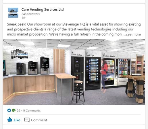 care vending linkedin posts