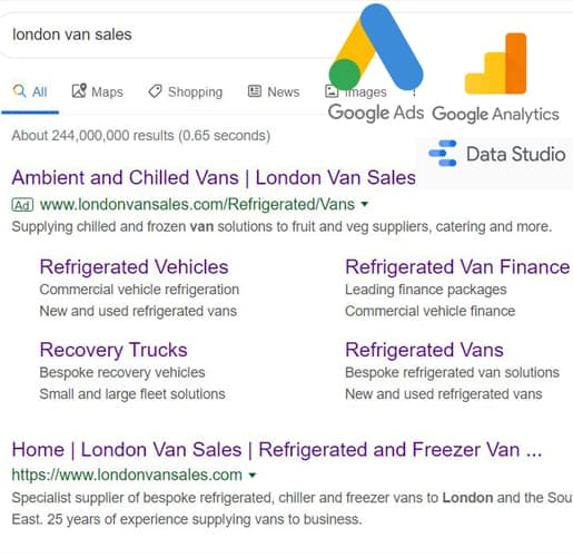 london van sales google ads google analytics google data studio amagence 515 x 500a