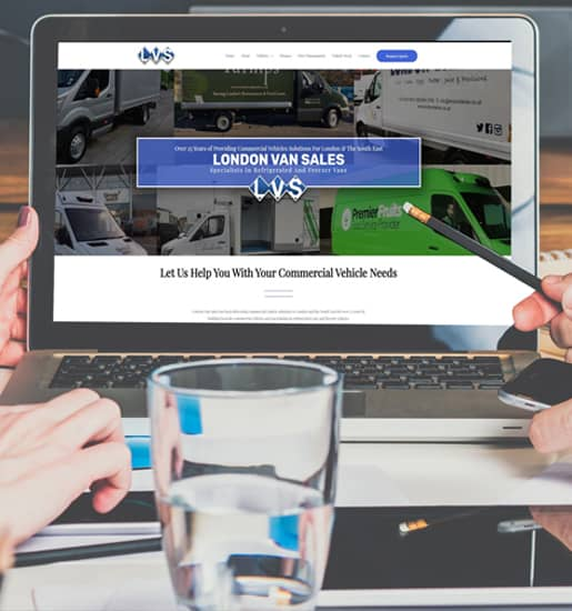 london van sales website by amagence 515 x 550